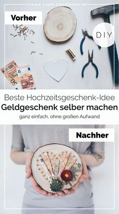 DIY money gift for wedding tinker - Holz DIY - Geschenke Creative Wedding Gifts, Diy Wedding Gifts, Wooden Gifts, Wooden Diy, Diy Gifts Cheap, Diy Wedding Programs, Diy Cadeau, Make Your Own, Make It Yourself