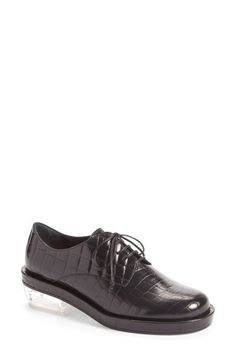 SIMONE ROCHA Croc Embossed Leather Oxford