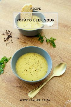 Potato Leek soup recipe by Lauren Kim Food Photography