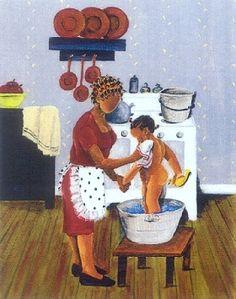 Artwork by Annie Lee -- reminds me of visiting Grandma & Grandpa in the summertime! Black Love Art, Black Girl Art, Black Child, African American Artist, African Art, Henri Matisse, Vincent Van Gogh, Monet, Black Art Pictures