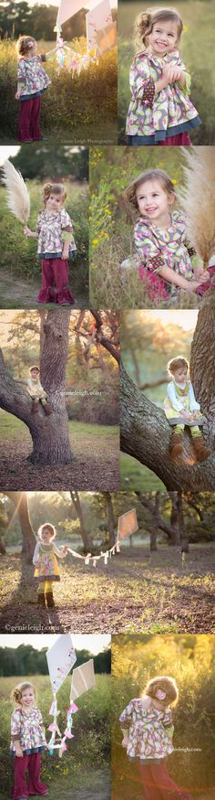 3 Year old photo shoot - Kites made from scrap material & burlap (Clothing by Matilda Jane)  - Genie Leigh Photography