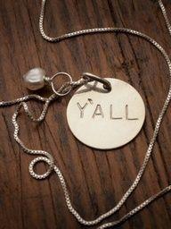 Y'all Necklace