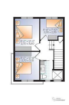W1701 petite maison moderne 3 chambres aire ouverte for Plan maison 6 chambres