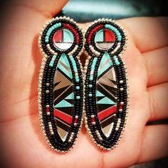 My new gorgeous earrings! #beadedearrings