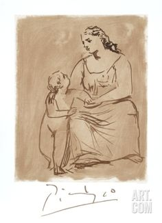 Pablo Picasso Artwork, Picasso Prints, Picasso Drawing, Baby Illustration, Sale Poster, Mother And Child, Famous Artists, Large Art, Find Art