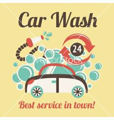A poster designed for a charity car wash at sainsburys local car wash poster vector by macrovector on vectorstock solutioingenieria Gallery