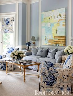 Grey and Light Blue Living Room. 20 Grey and Light Blue Living Room. Love This Light Blue Living Room Coastal Living Rooms, Home Living Room, Living Room Decor, Bedroom Decor, Blue Bedroom, Kitchen Living, Bedroom Furniture, Kitchen Decor, Blue And White Living Room