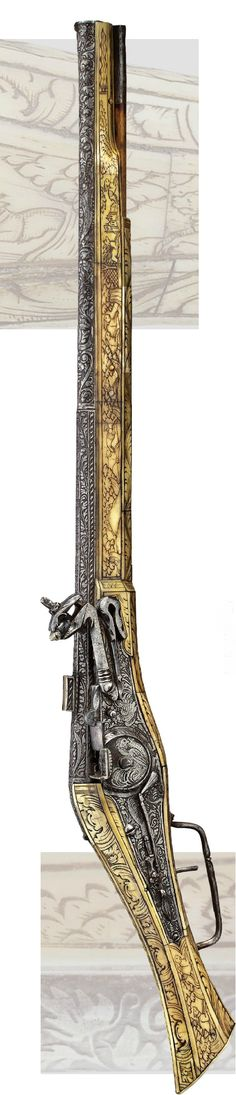Rare magnificent equestrian-wheel lock pistol Brunswick or Munich, ca . 1550