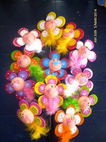Biscuit, Pencil Toppers, Clothespin Dolls, Plastic Flowers, Pixie, Envelope, Polymer Clay, Crafts For Kids, Valentines