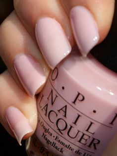 I like the pastel pink nails. They're so in for spring!