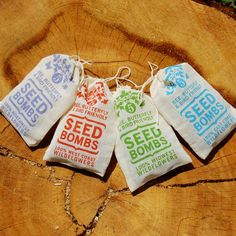 Such a cool idea these are seed bombs you just throw them into an empty lot or ugly lot and wild flowers will just spring up...the best kind of bomb ever lol