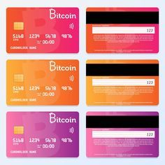 Credit Card Design Bitcoin Pay In 2020 Credit Card Design Debit Card Design Card Design