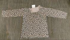 Langarmshirt mit leopardenmuster