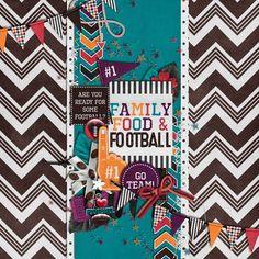 ScrapSimple Embellishment Templates: Me Lucky Charms: Football by Bekah E Designs