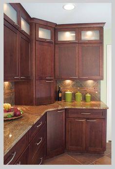 I like the lit soffit cabinets