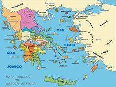 Mapa de Grecia clásica