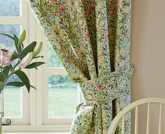 William Morris Curtains, 132 x drop William Morris, Soft Furnishings, Kitchen Ideas, Arts And Crafts, Drop, Curtains, Home Decor, Blinds, Decoration Home
