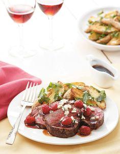 Pan-Roasted Beef Tenderloin with raspberry sauce Recipe
