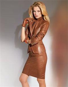 Leather Blazer lamb nappa, lamb nappa leather skirt