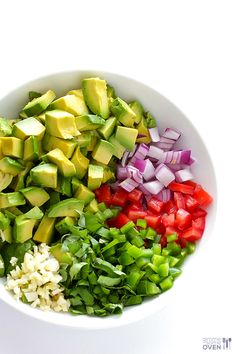Italian Guacamole -- fresh basil is the rockstar of this delicious twist on classic guacamole.