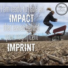 """Making an impact is a great goal, but whose imprint are we leaving? I think about Paul's words in 1 Cor. 11:1 - """"Follow my example, as I follow the example of Christ."""" Though Paul was a charismatic, well-educated leader with a powerful testimony, He made it clear, """"You're free to get in line behind me, but I'm not the one leading, so if you're going to follow me, be aware that I'm following Him."""" God, give us the confidence to clearly point others to You."""
