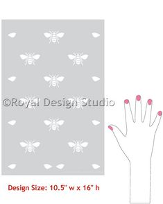 Wall Stencil What's The Buzz Allover by royaldesignstencils, $26.00