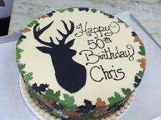 Deer Silhouette Cake.