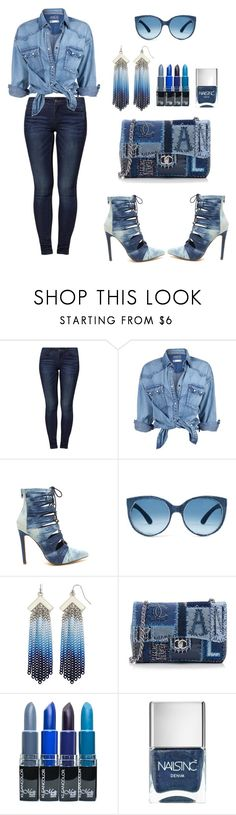 """""""Simple as that no.139"""" by ronnie-27 ❤ liked on Polyvore featuring Jacqueline De Yong, Soul Cal, Mosevic, Nicole By Nicole Miller, Chanel and Nails Inc."""