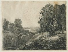 "Rembrandt ""Flight to Egypt"" Etching Sold! $24,150, Fairfield Auction www.fairfieldauction.com"