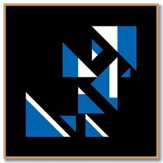KINDA BLUE TRIANGLES (Miles Davis) limited edition fine art print by BobKessel