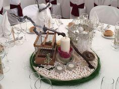 birds centerpiece rustic wedding