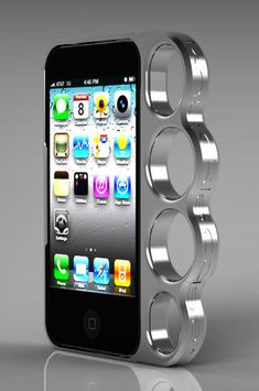 Brass knuckles iPhone case. needs a bit of help but i love the idea