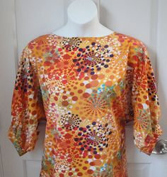 M-2X  Post Surgery Clothing. Perfect for Shoulder, Breast Cancer, Mastectomy or Heart Surgery.  Fun new print that would be perfect for this spring and summer.  by shouldershirts on Etsy