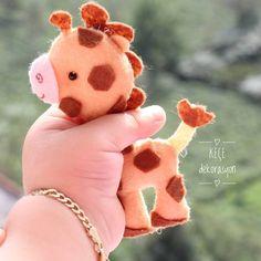 Küçük ellere küçük oyuncaklar  Giraffes, Zebras, Felt Giraffe, Elsa, Teddy Bear, Horses, Toys, Animals, Activity Toys