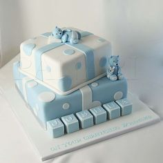 baby boy christening cakes - Google Search