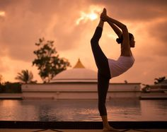 Practise sunset yoga with this stunning view at Absolute Sanctuary in Thailand