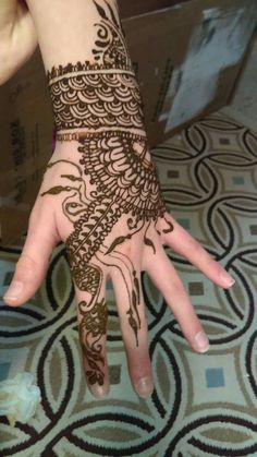 Beautiful henna by Henna Hands! To get henna done on you or for your event, let us know by any of the ways of contact below. Phone: (757)-912-7016 Email: hennahandsbyaudi@hotmail.com Website: hennahandsbyaudi.weebly.com Facebook: Henna Hands, @hennahandsbyaudi Pinterest: Henna Hands For more beautiful henna designs and inspiration by Henna Hands, check us out on Facebook or Pinterest.  Have a wonderful day!
