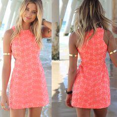 Summer Style Elegant Women Dress Elegant Floral Sleeveless Beach Party Dresses.Only sale  $18.39!