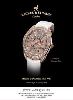 The Regent Diamond Time - For more information, visit www.backesandstrauss.com