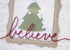Silhouette Blog: Christmas Card Workshop : Card 2