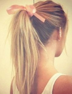 Ponytail with bow for formal?