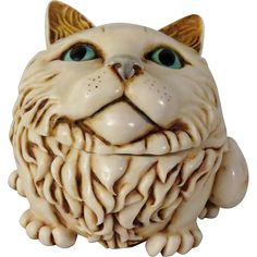 Signed Harmony Kingdom Fat Cat's Meow Special Edition Event Piece www.rubylane.com #fatcatsmeow #specialedition #eventcollectible #cat