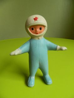 Rare and old soviet rubber toy  COSMONAUT  spaceman  by RETROisIN, $65.00