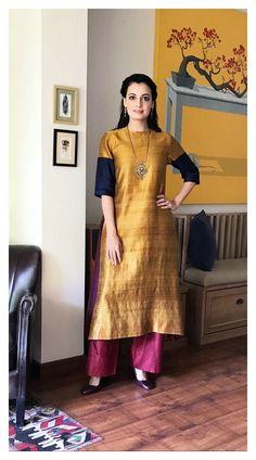 Designer kurtis before they hit the market - ArtsyCraftsyDad Pakistani Dresses, Indian Dresses, Indian Outfits, Indian Clothes, Kurta Designs Women, Blouse Designs, Simple Indian Suits, Indian Designer Suits, Designer Kurtis