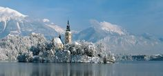 Book online from the widest selection of accommodation in Slovenia's top ski resorts - Kranjska Gora, Lake Bohinj and Lake Bled. Europe Holidays, Ski Holidays, Bled Slovenia, Ill Fly Away, Bohinj, Julian Alps, Church Pictures, Lake Bled, Best Resorts