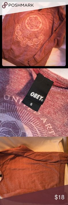 Obey Sweatshirt S Small Love this!! Size small, no rips or stains. No smells! Smoke free home. Obey Tops Sweatshirts & Hoodies