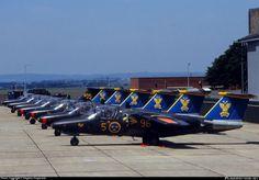 Saab 105 Of The Swedish Air Force Demonstration Team