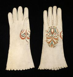 Gloves  Date: early 18th century Culture: probably Spanish Medium: Leather, silk