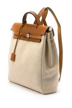 08fe98188028 Vintage Hermes Cotton Herbag PM Backpack Mk Bags