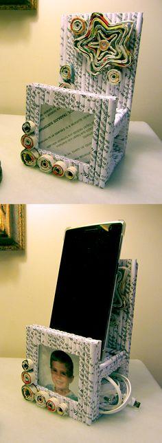 De papel - Soporte móvil y portafoto